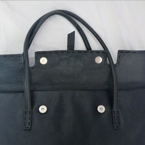 BCBG MaxAzria Black Leather Shoulder Bag